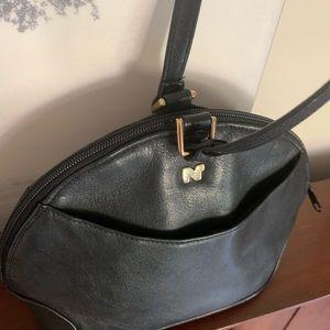 1980's Black Leather NINA RICCI crossbody